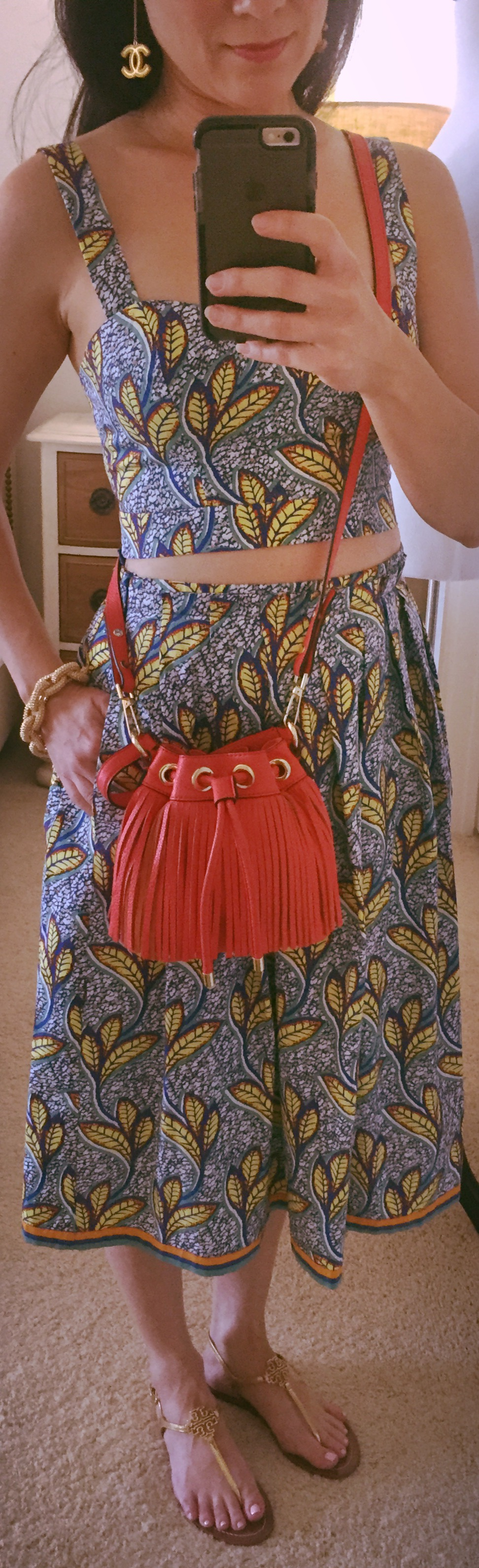 Aug 9th Printed Crop Top & Skirt by Zara