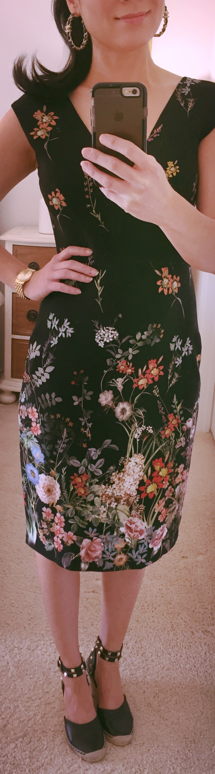 Sept 20, Floral Dress by Zara & Valentino Inspired Espadrilles