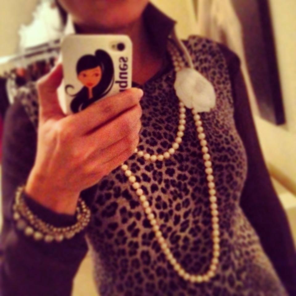 Karl Lagerfeld for Macy's Blouse Under Leopard Dress