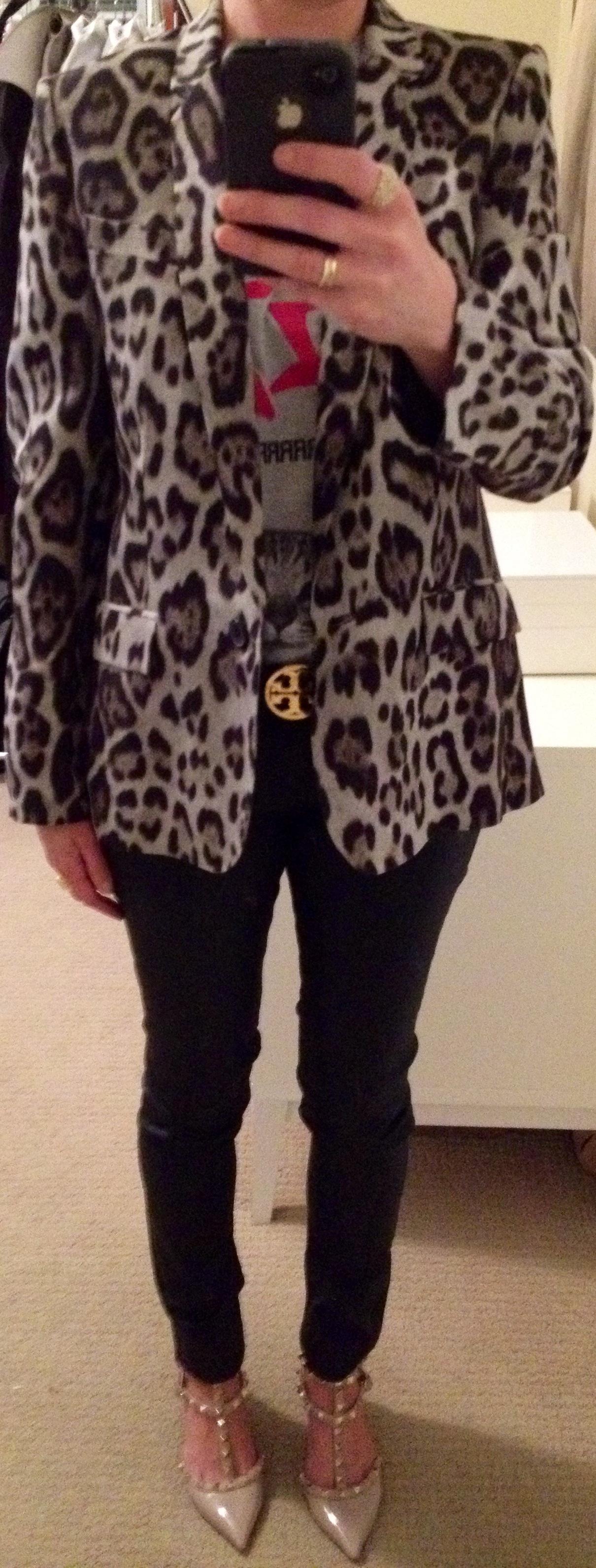 Aug 15, Meow! Leopard Jacket over Kitty Tee from Zara
