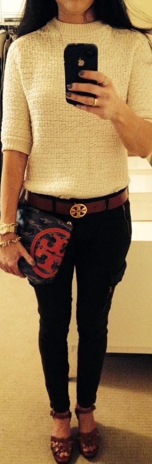 Aug 15, Cargo Skinny Jeans with Tory Camo Clutch
