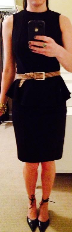 Aug 18, Black Peplum dress by Zara