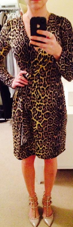 Aug 26, BCBG Wrap Dress Leopard