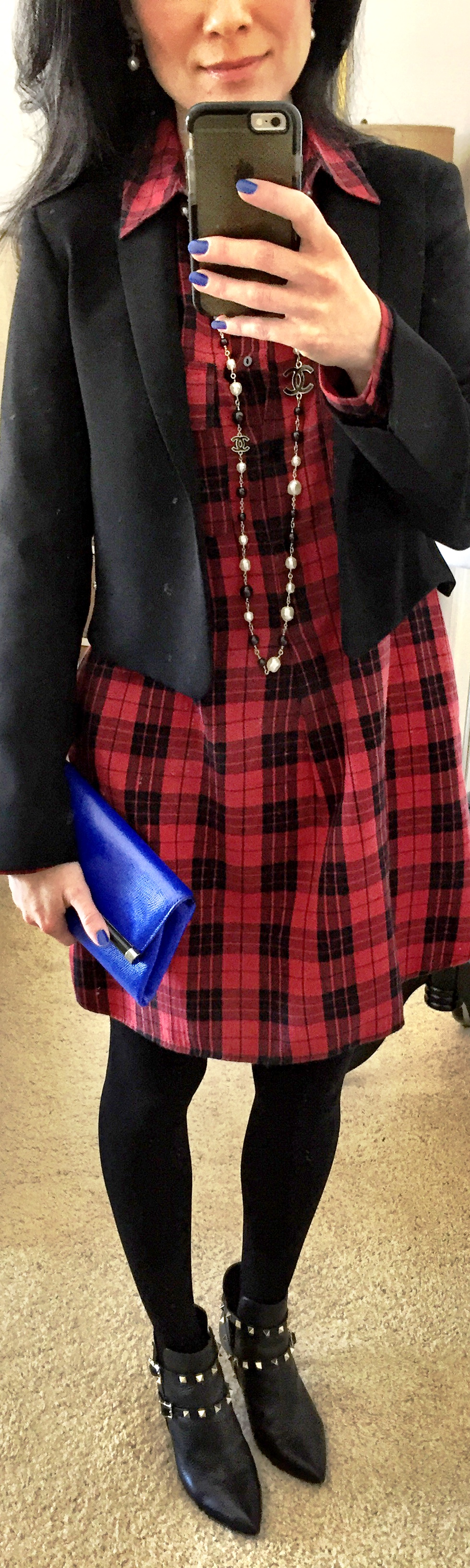 February 3, Max Mara short jacket with Plaid