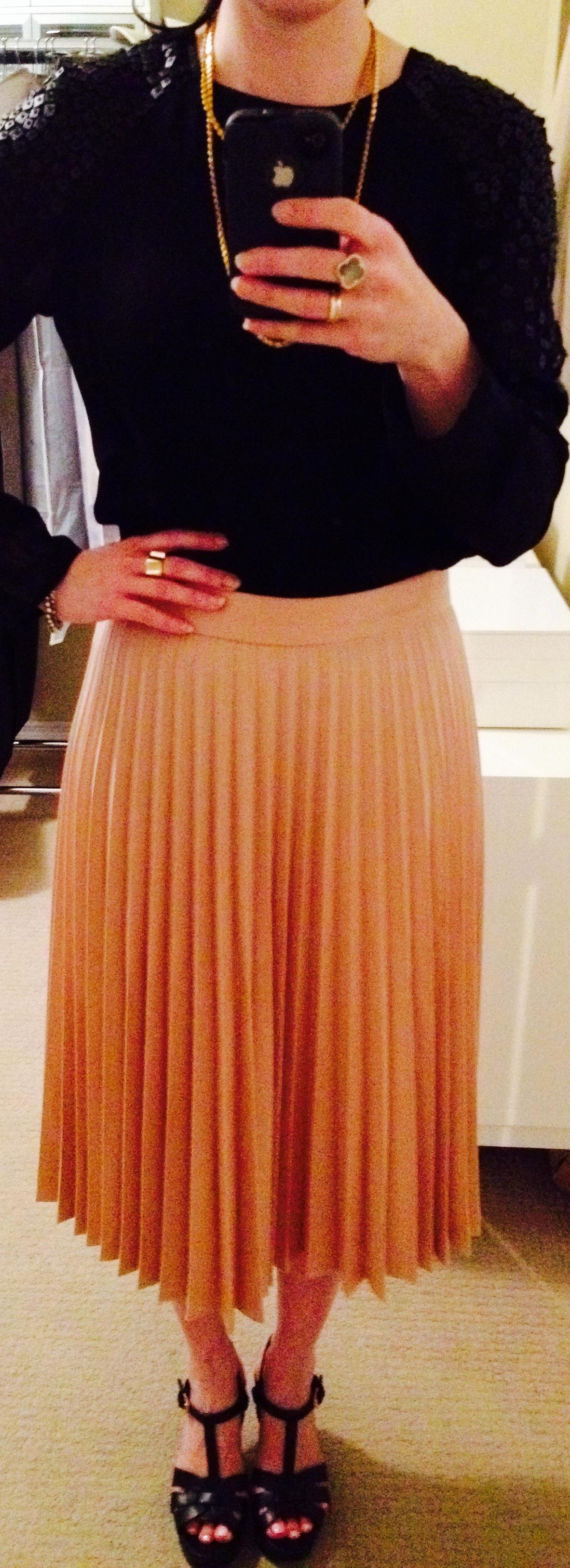 July 1, Pleated Skirt by Zara