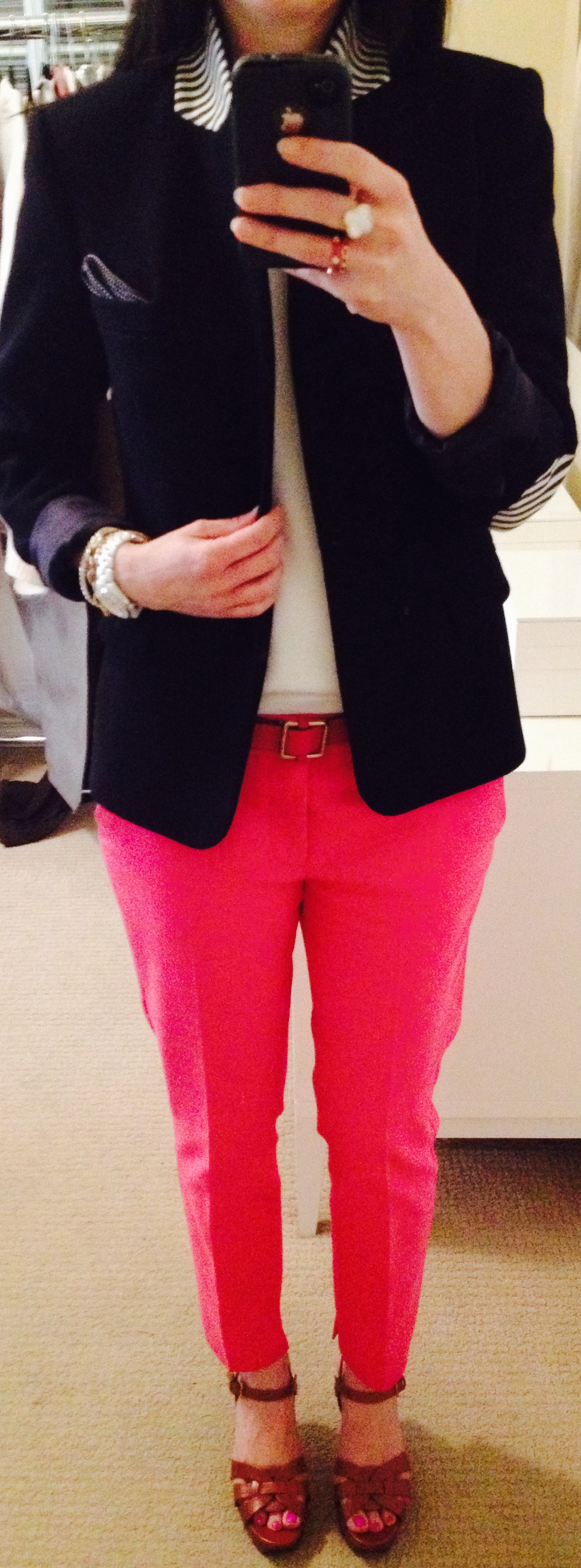 May 12, Nautical Blazer in Blue and Pink