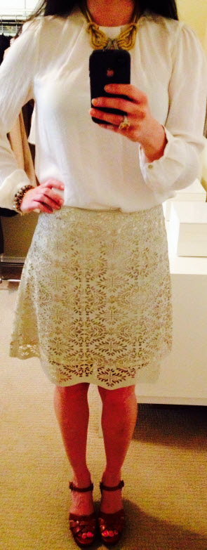 May16, Laser cut out skirt by Zara