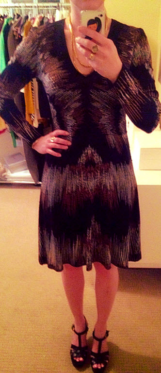 Wearing Monday May 5, BCBG knit dress