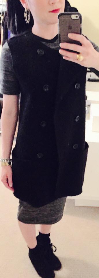 Nov 19, Tee Shirt Dress with Wedge Sneakers