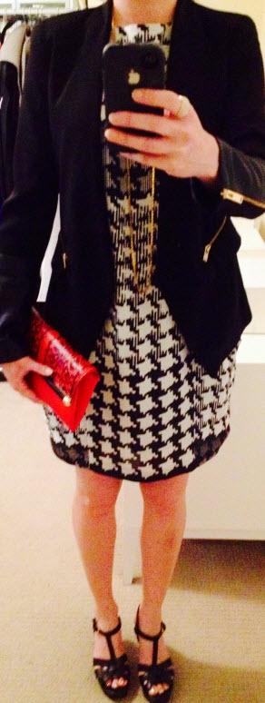 Sept 9, Zara Shift Dress and DVF clutch