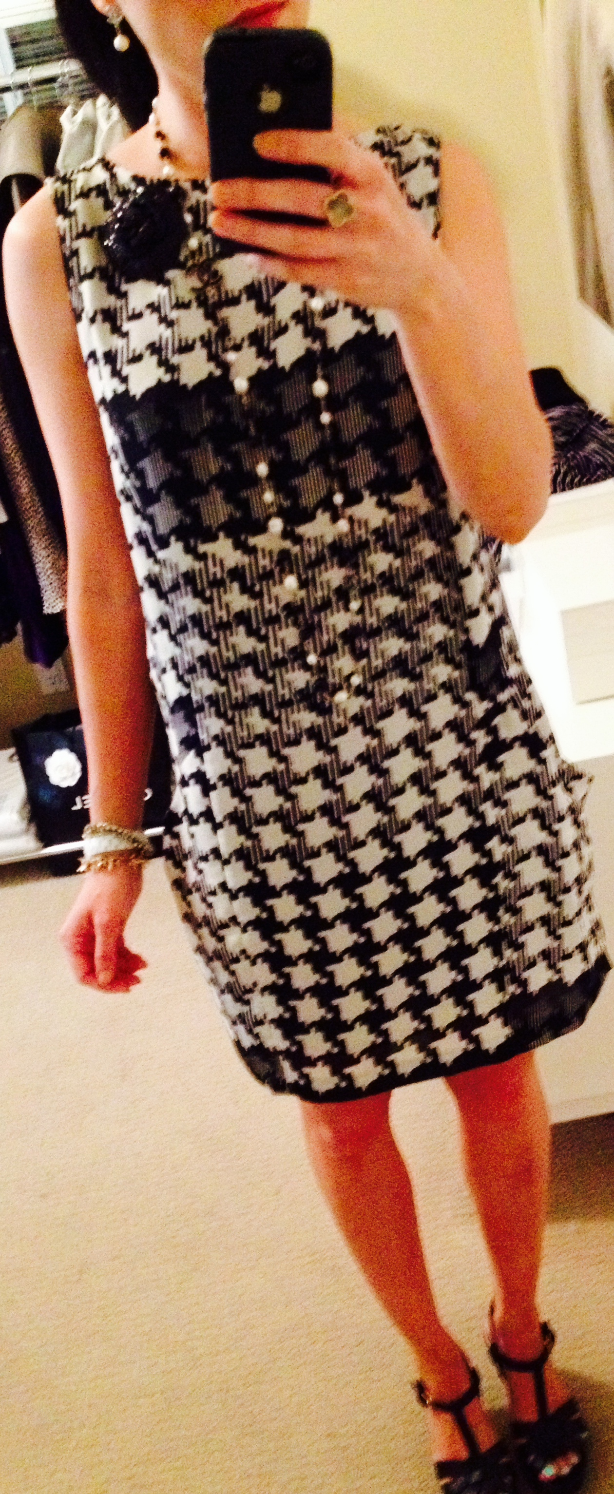 August 4, Houndstooth Shift Dress inspired by Burberry
