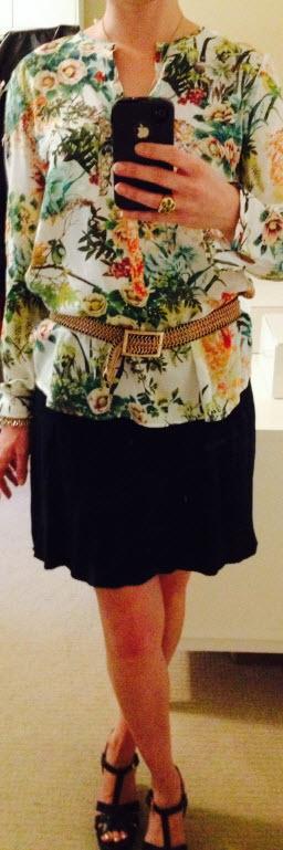 Sept 25, Evergreen Knit Skirt