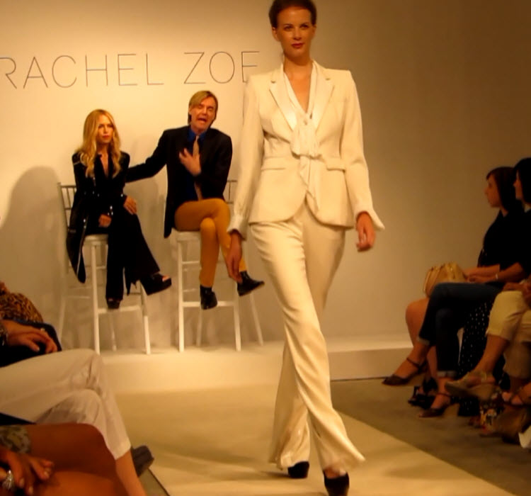 White on White Suit by Rachel Zoe