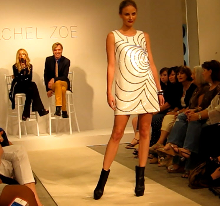 White Sequin Shift Dress by Rachel Zoe