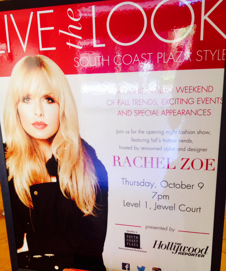 Rachel Zoe Appearance at South Coast Plaza