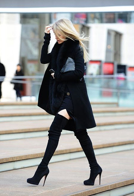 Above the Knee Suede Boots