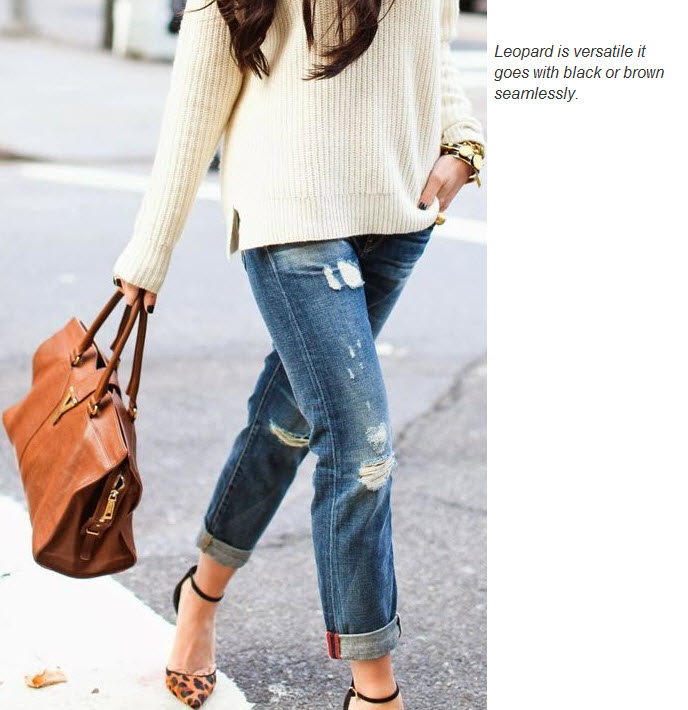 Leopard heels and YSL handbag