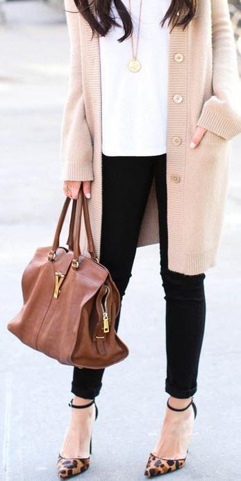 Leopard Heels with YSL handbag