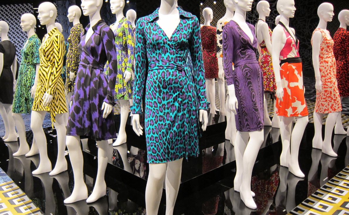 Diane Von Furstenberg 40 year Wrap Dress Exhibit