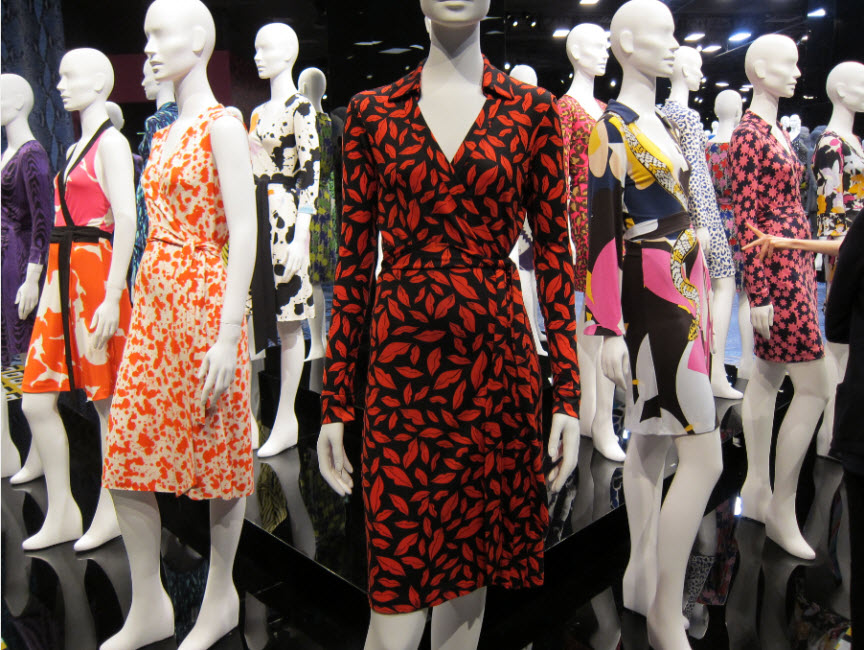 DVF Wrap Dress Red Lips
