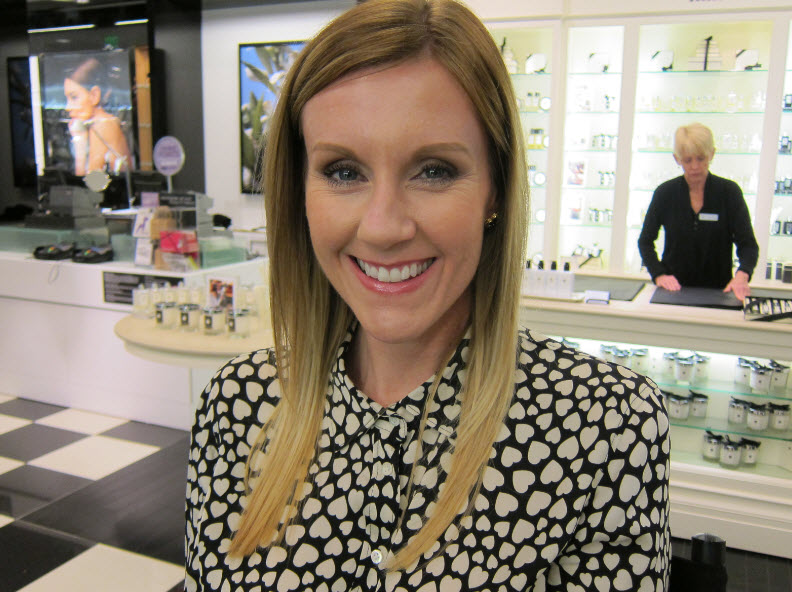 Christen Reynolds in Chanel Makeup at Bloomingdale's South Coast Plaza