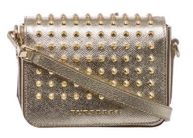Burberry 'London' Gold Studded Leather Berkeley Crossbody