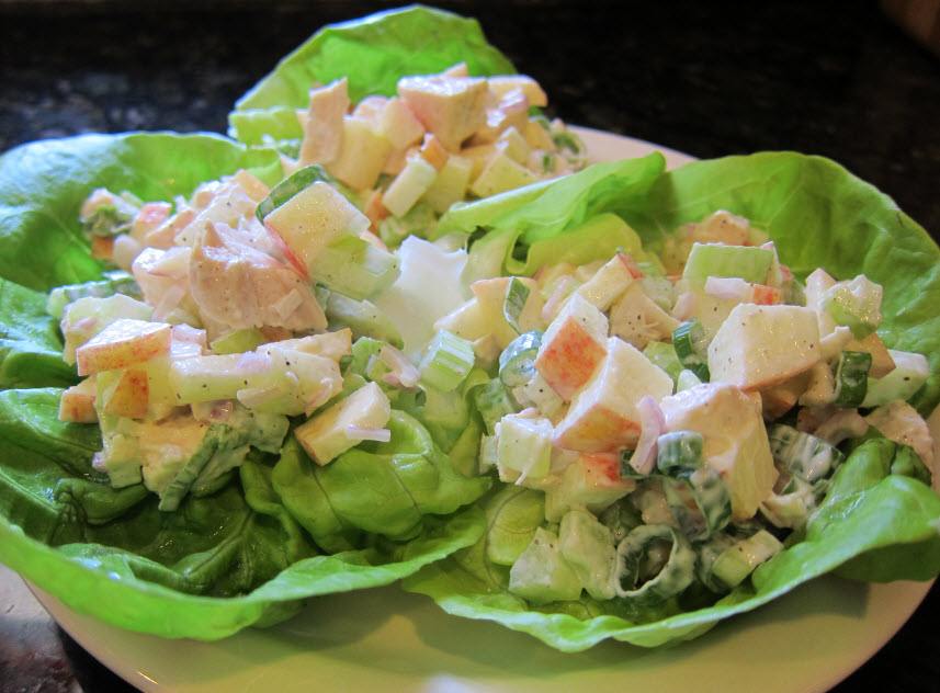 With Mayo in Butter Lettuce Cups