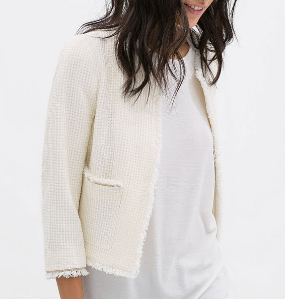 frayed jacket by Zara.com $90