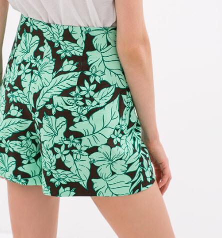 Hawaiian Print Shorts by Zara