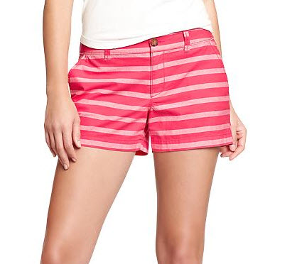 Pink Striped Shorts by Old Navy