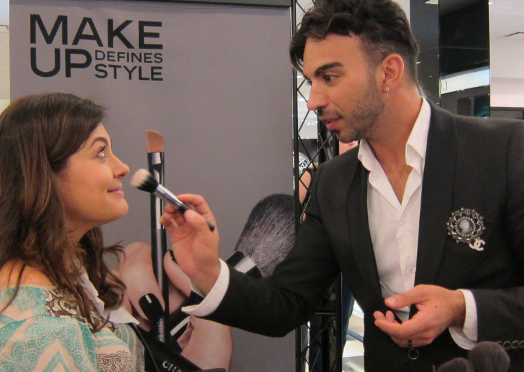 Kayld Odeh Preps Makeup for date night
