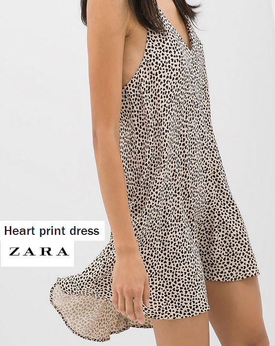 Heart Print Dress by Zara.com