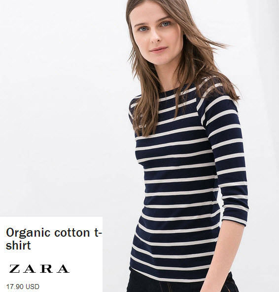 3/4 Quarter Striped Tee by Zara.com
