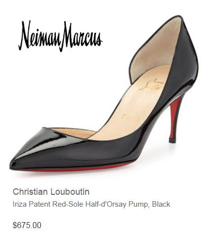 Christian Louboutin, Iriza patent Half'd Orsay pump
