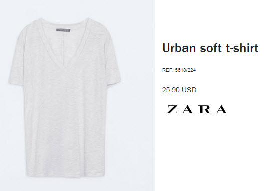 Urban soft t-shirt by Zara