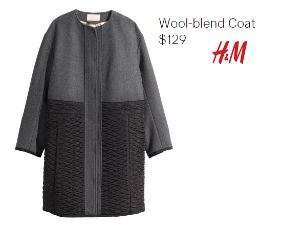 Wool Blend Coat by H&M