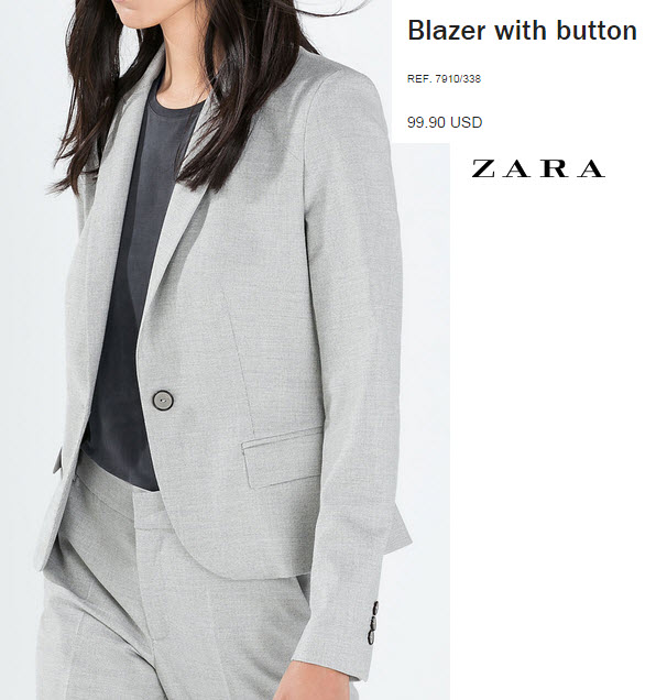 Blazer with Button by Zara