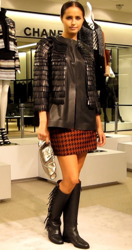 Leather Jacket and Mini Skirt