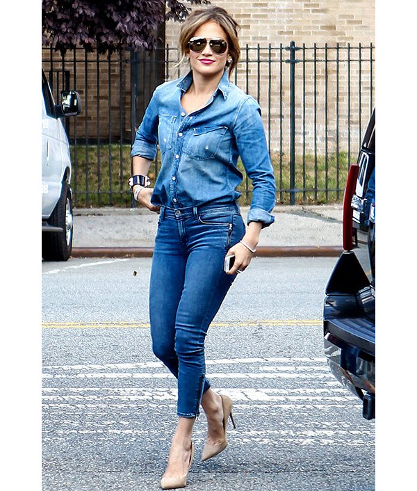 Jennifer Lopez Denim on Denim