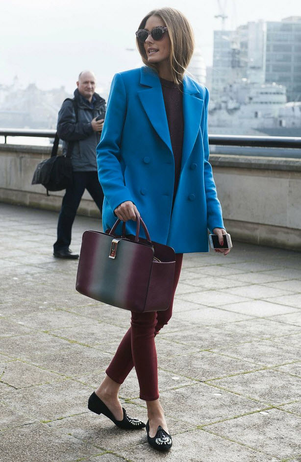 Oliva Palermo in Blue and Burgandy