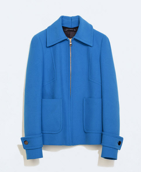 Deep Blue Jacket by Zara