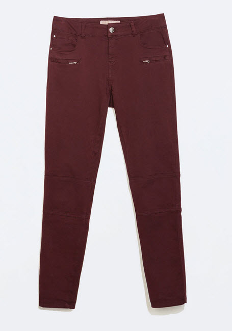 Cropped Biker Trousers