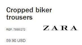 Cropped Biker Trousers