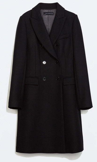 Double Breasted Coat by Zara