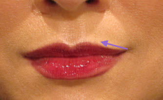 Apply Lip Liner from corner to center