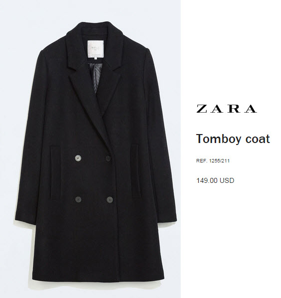 Tomboy Coat by Zara