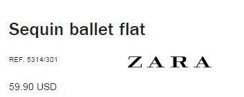 Sequin Ballet Flats