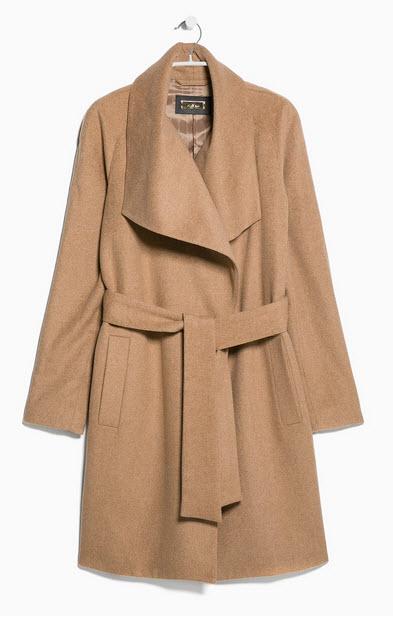 Wool Blend Coat by MANGO