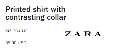 Printed Shirt with Contrasting Collar