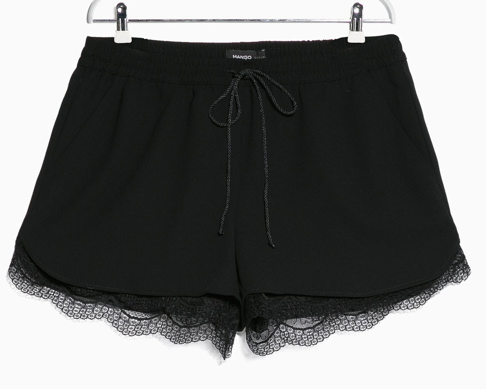 Lace Lined Shorts by MANGO
